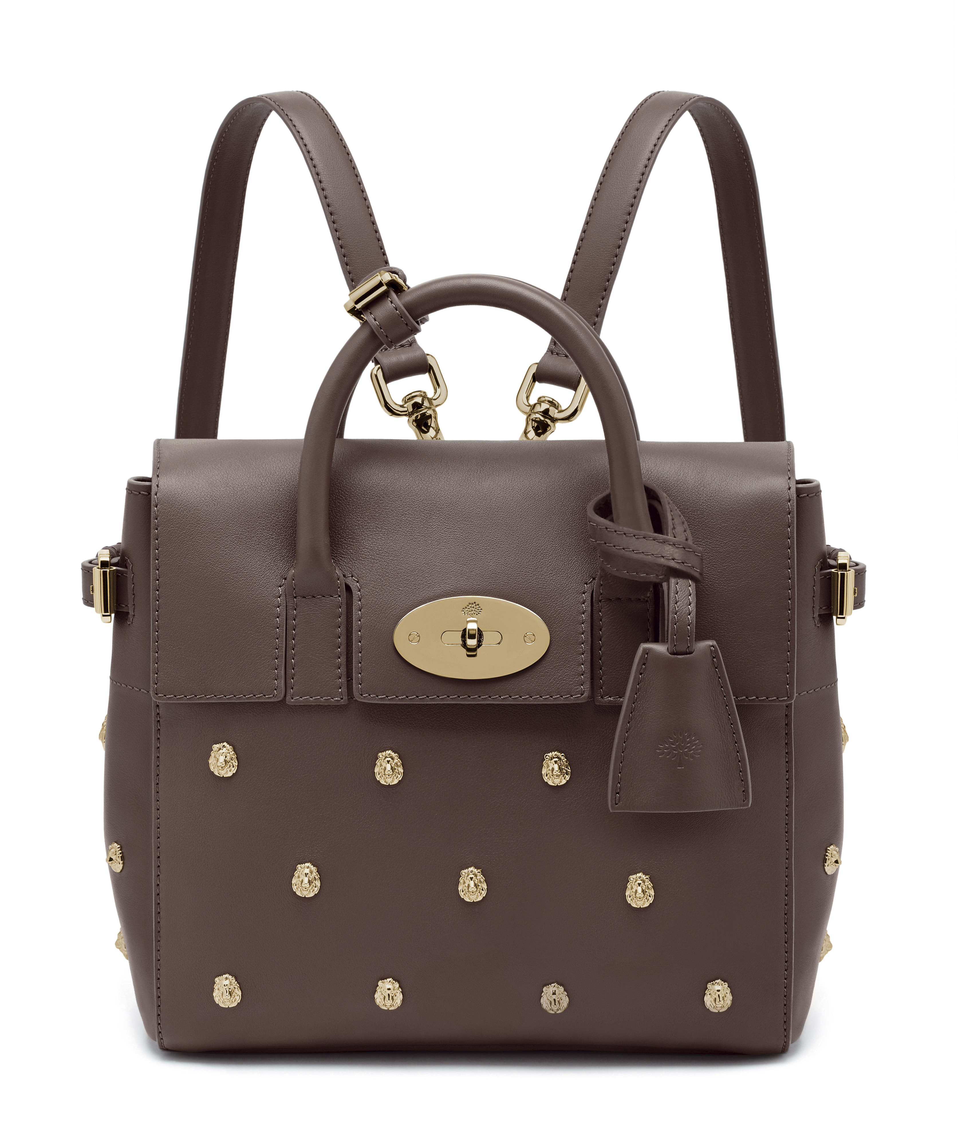 Mini Cara Delevingne Bag in Taupe Lion Rivets