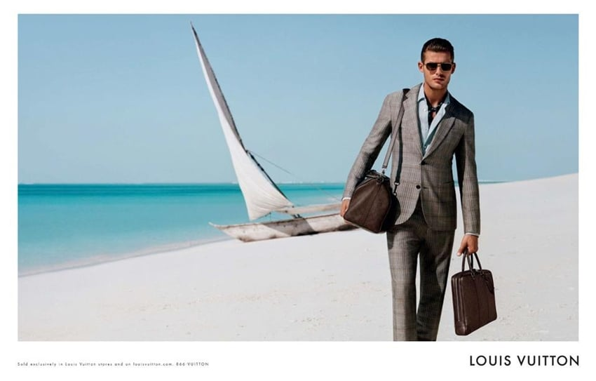 Ad Campaign | Louis Vuitton Homme S/S 2013 ft. Jacey Elthalion by Alasdair McLellan