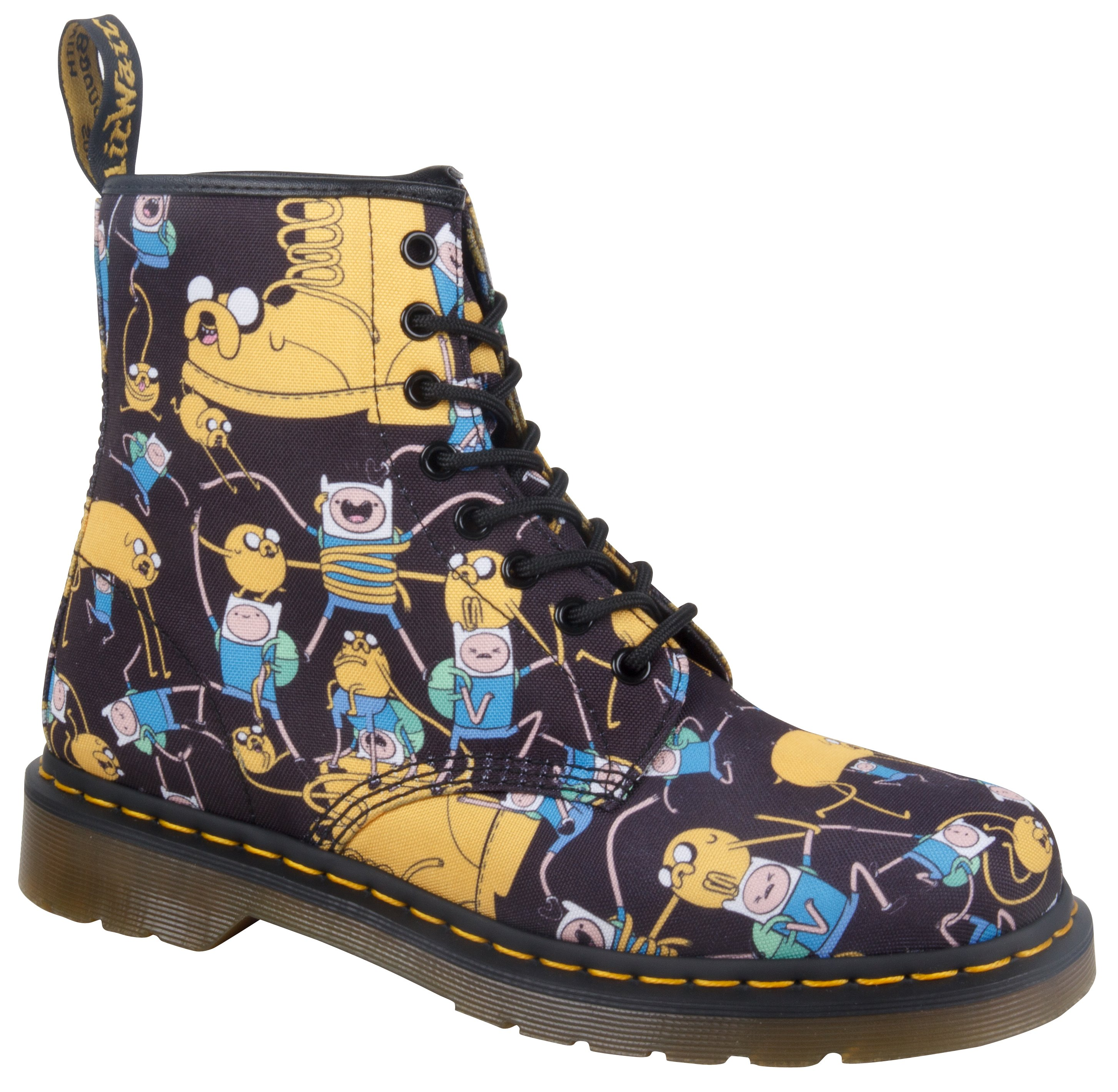 14318101_ADULTS_ADVENTURE TIME_CASTEL_8 EYE BOOT_MULTI CHARACTER T CANVAS