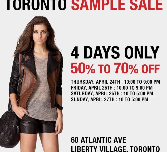 Fashion | RUDSAK Sample Sale Toronto #RUDSAKSampleSale