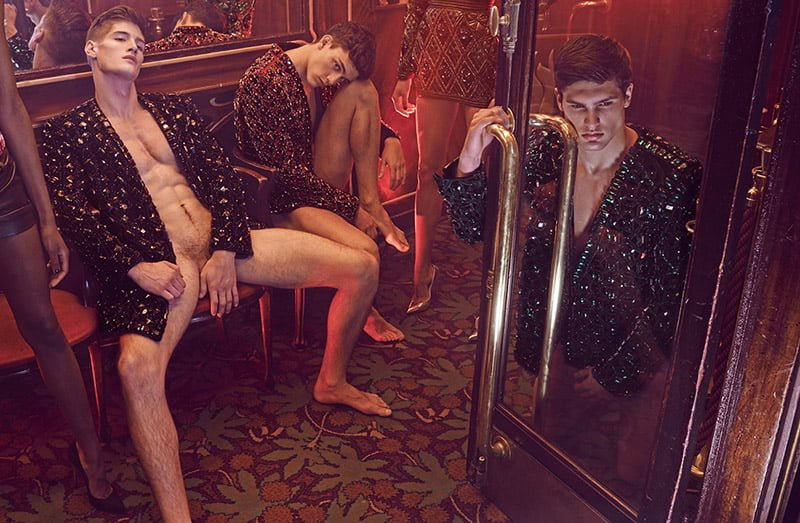 Editorial | 'A Sexy Night Out With the Balmain Army' Têtu Magazine March 2015 by Mariano Vivanco
