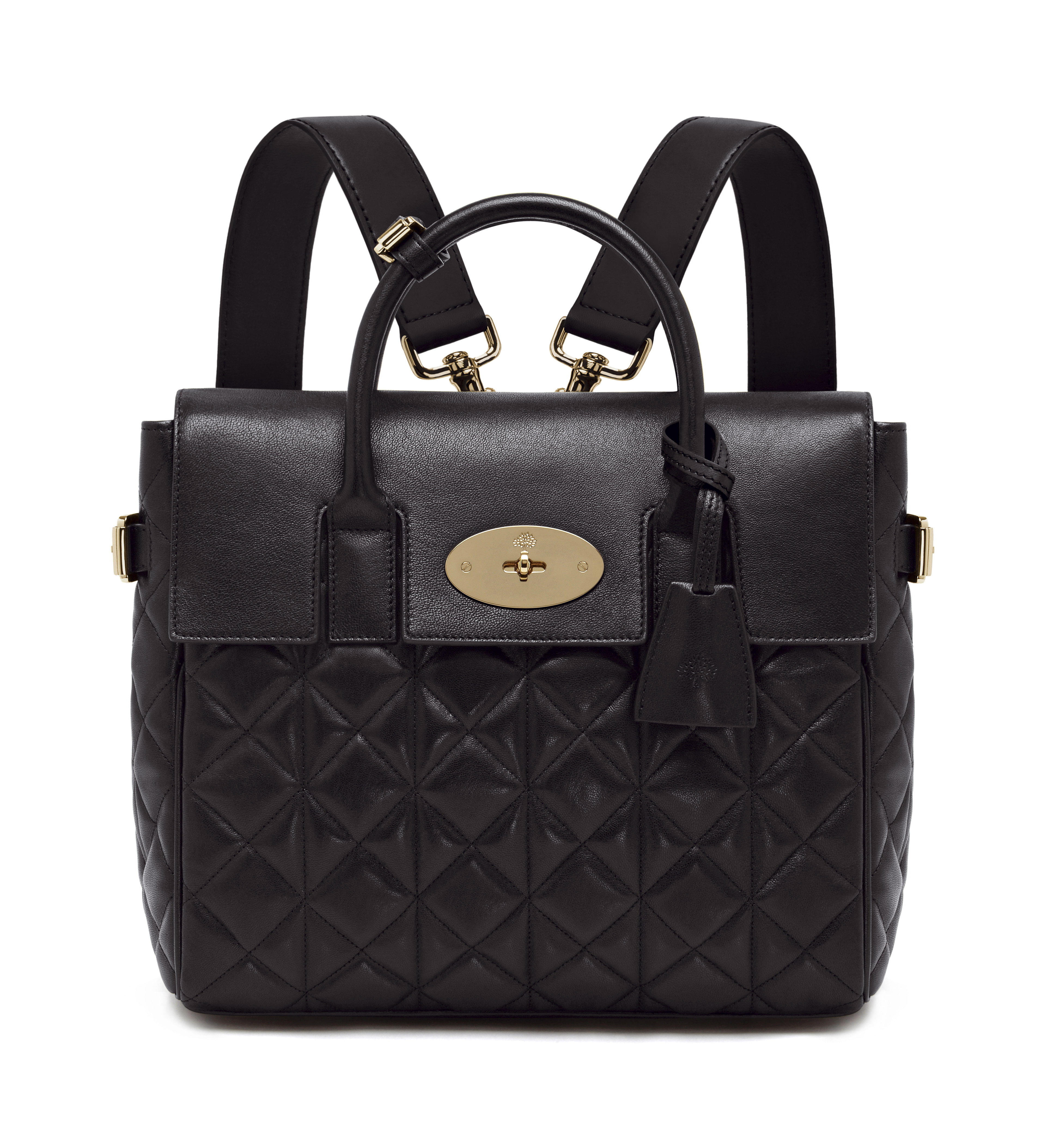 Cara Delevingne Bag in Black Quilted Nappa