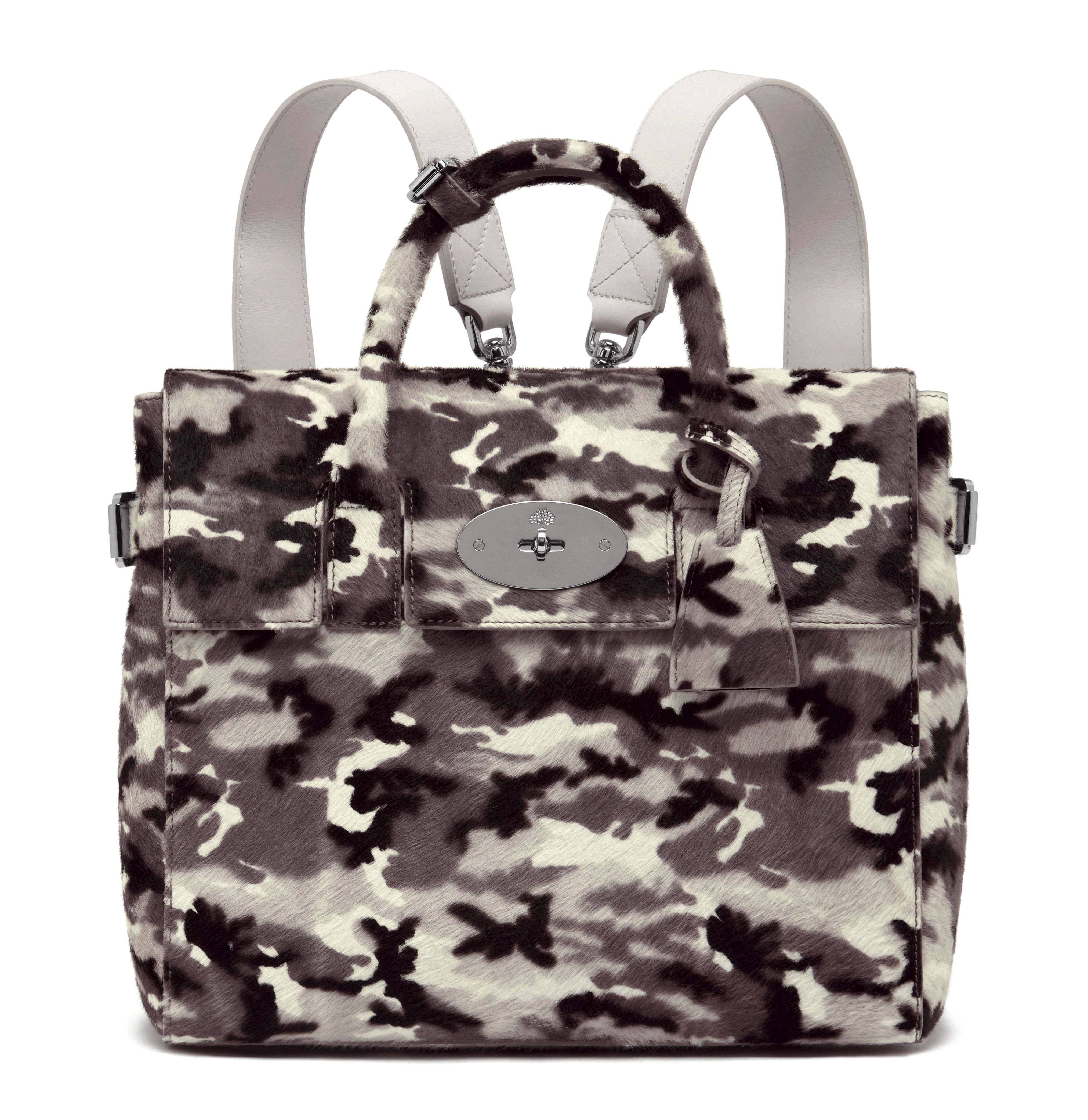 Cara Delevingne Bag in Black-White Camo Haircalf