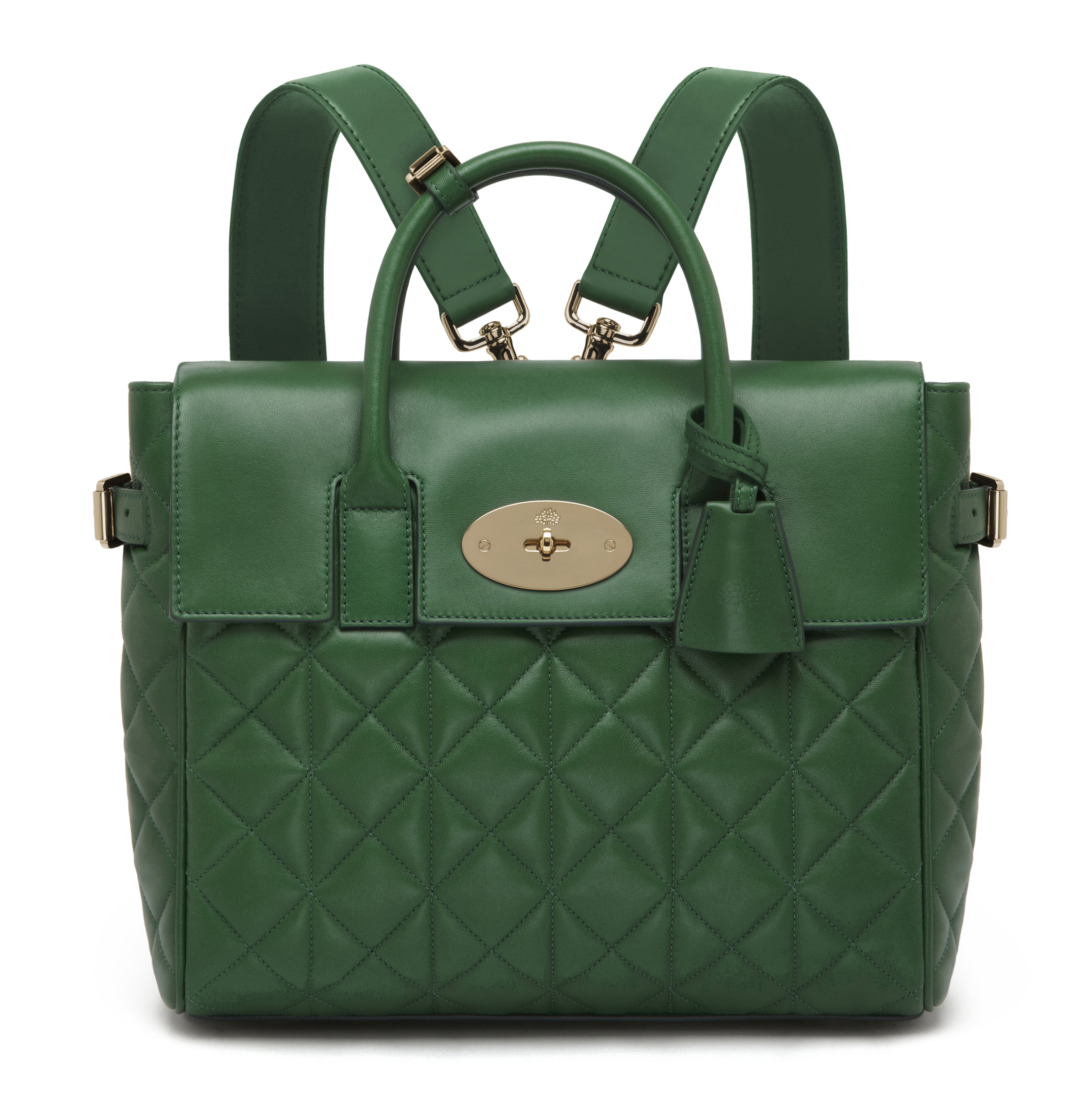 Cara Delevingne Bag in Delevingne Green Quilted Nappa