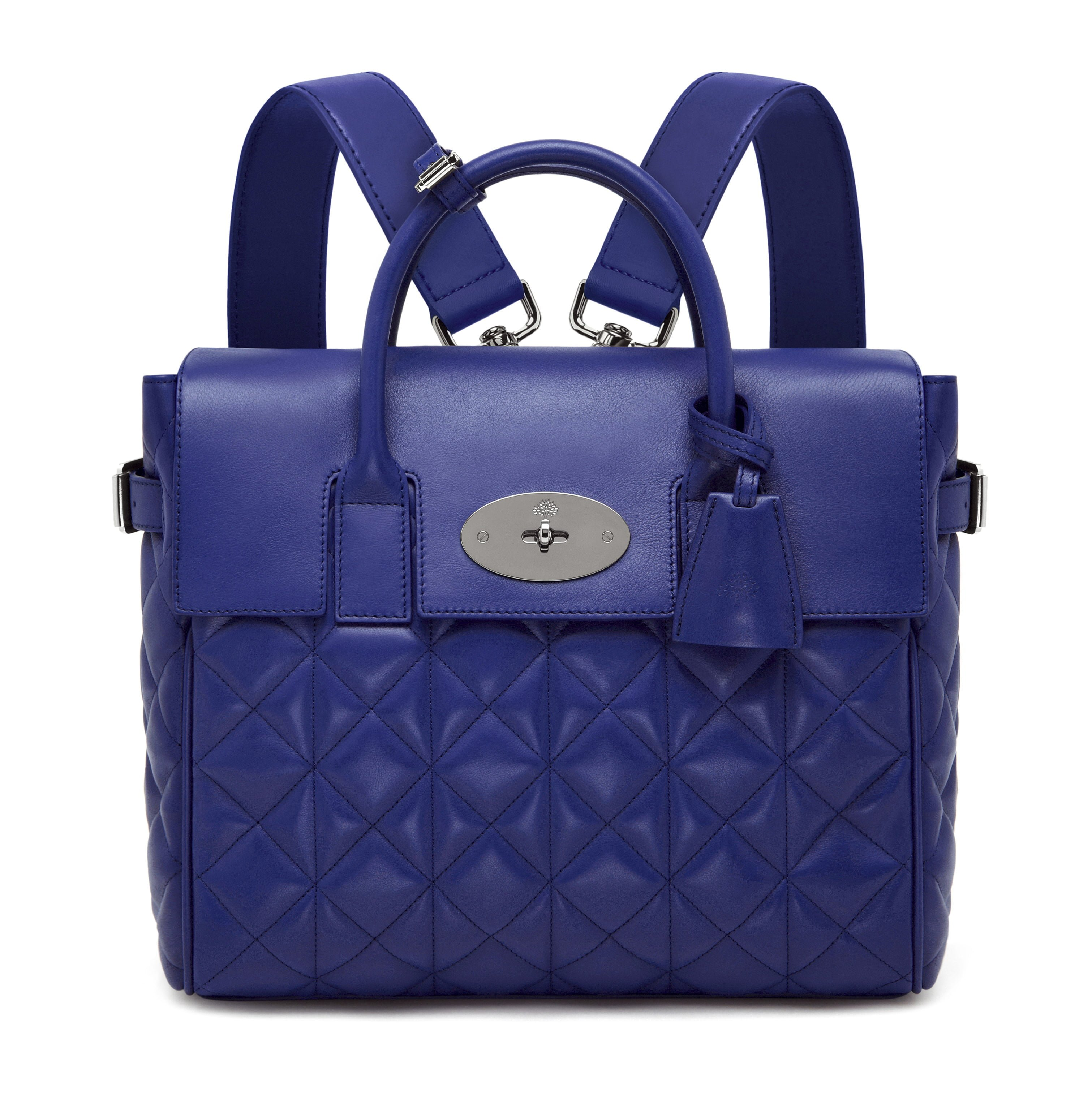 Cara Delevingne Bag in Indigo Quilted Nappa