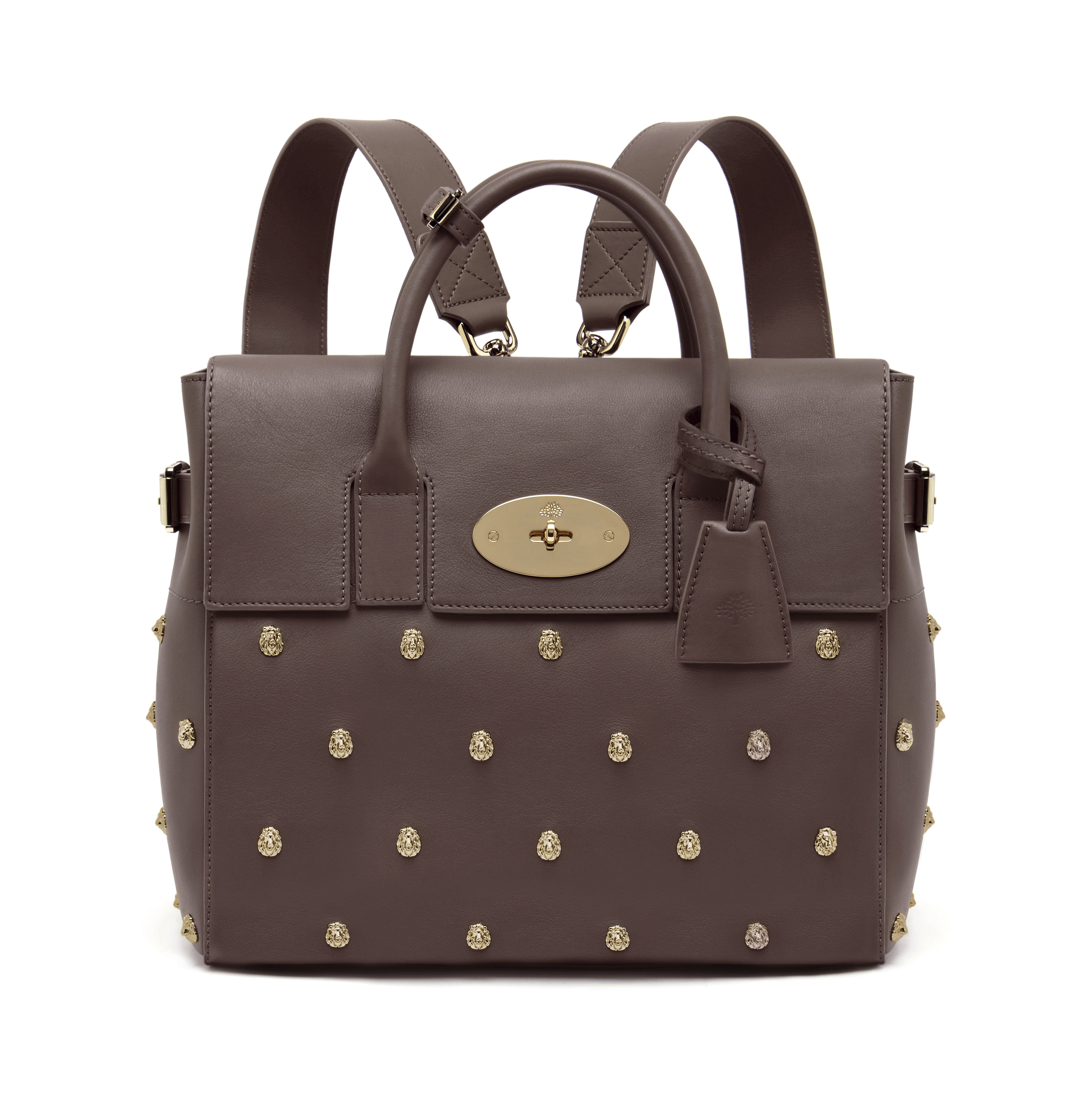 Cara Delevingne Bag in Taupe Lion Rivets