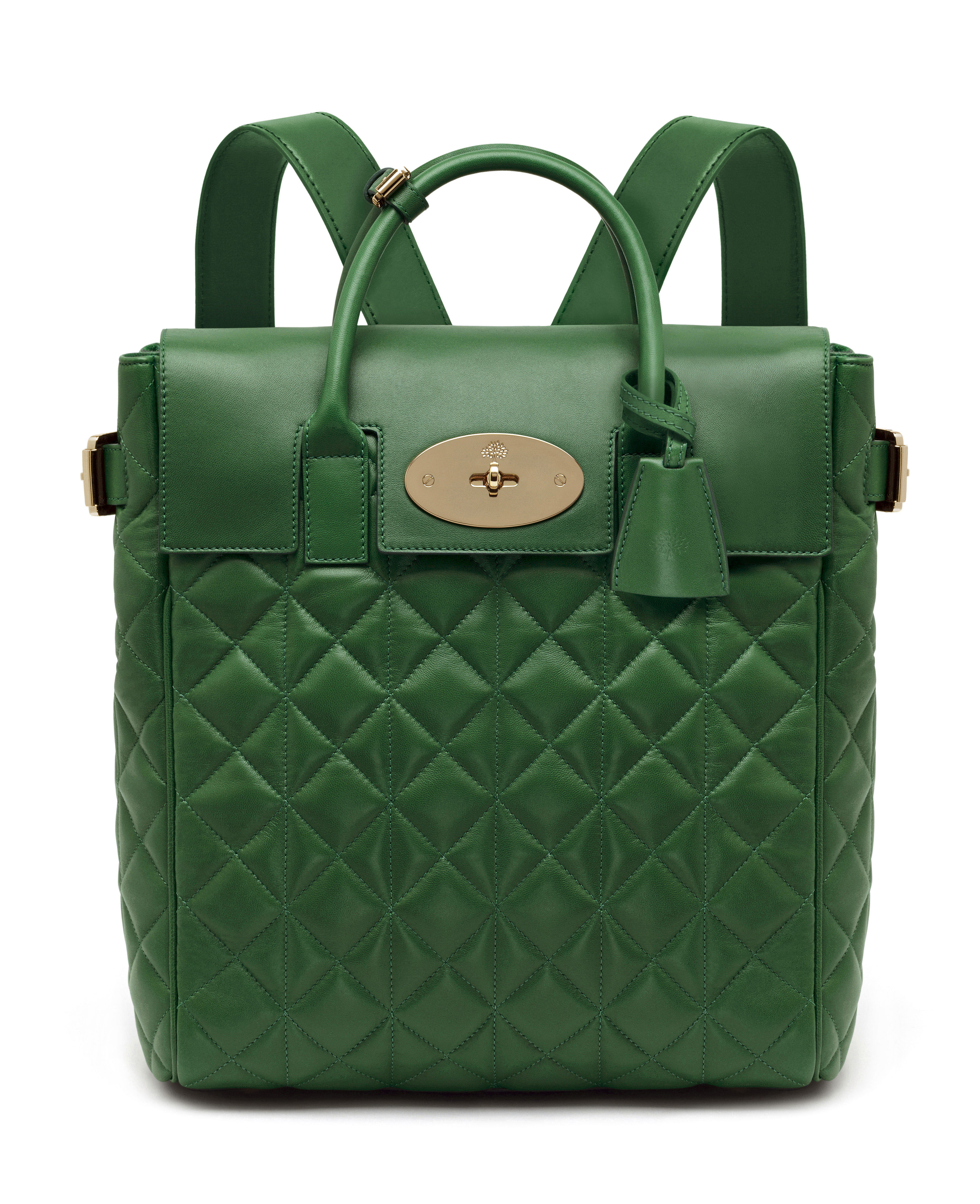 Large Cara Delevingne Bag in Delevingne Green Quilted Nappa