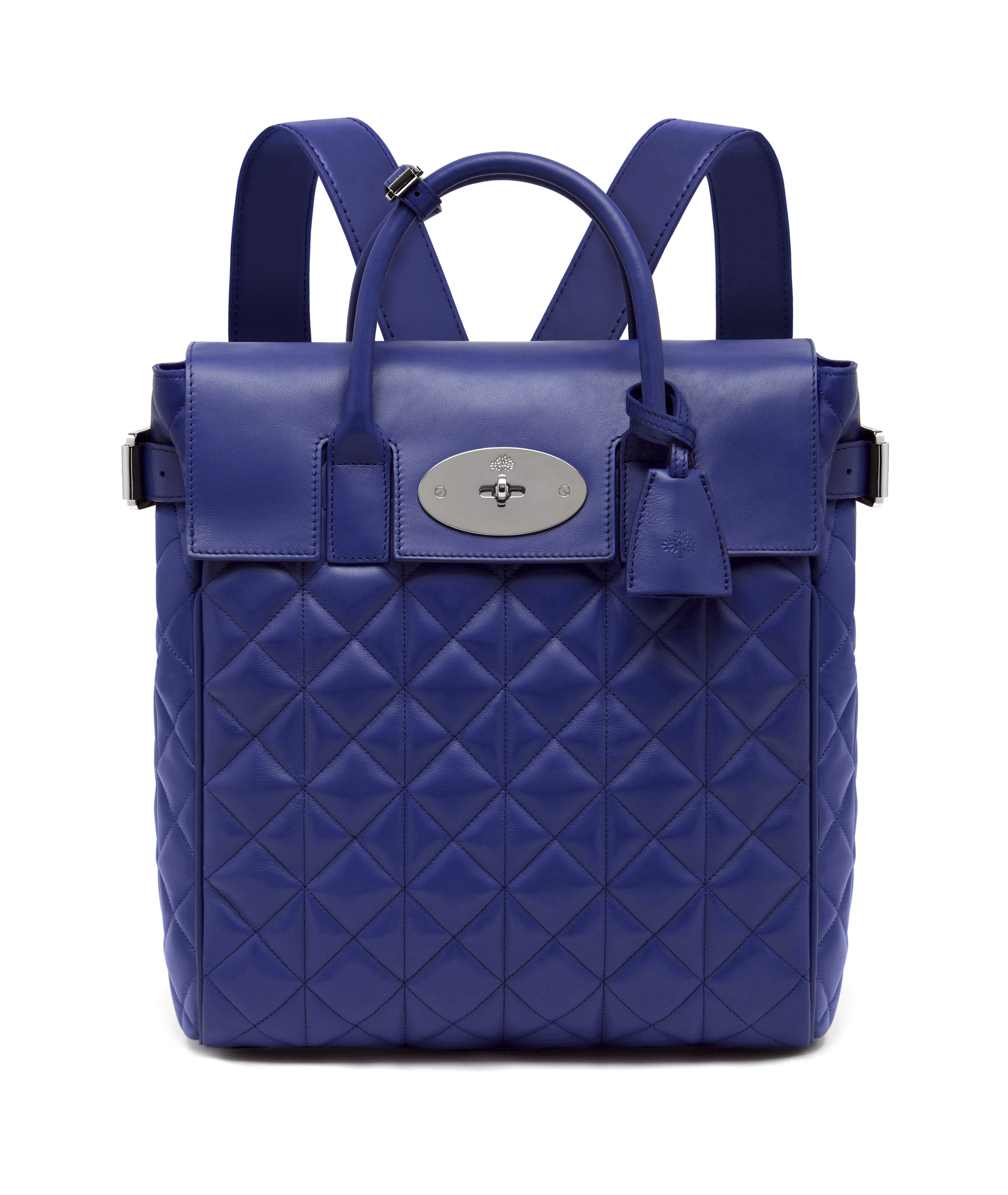 Large Cara Delevingne Bag in Indigo Quilted Nappa