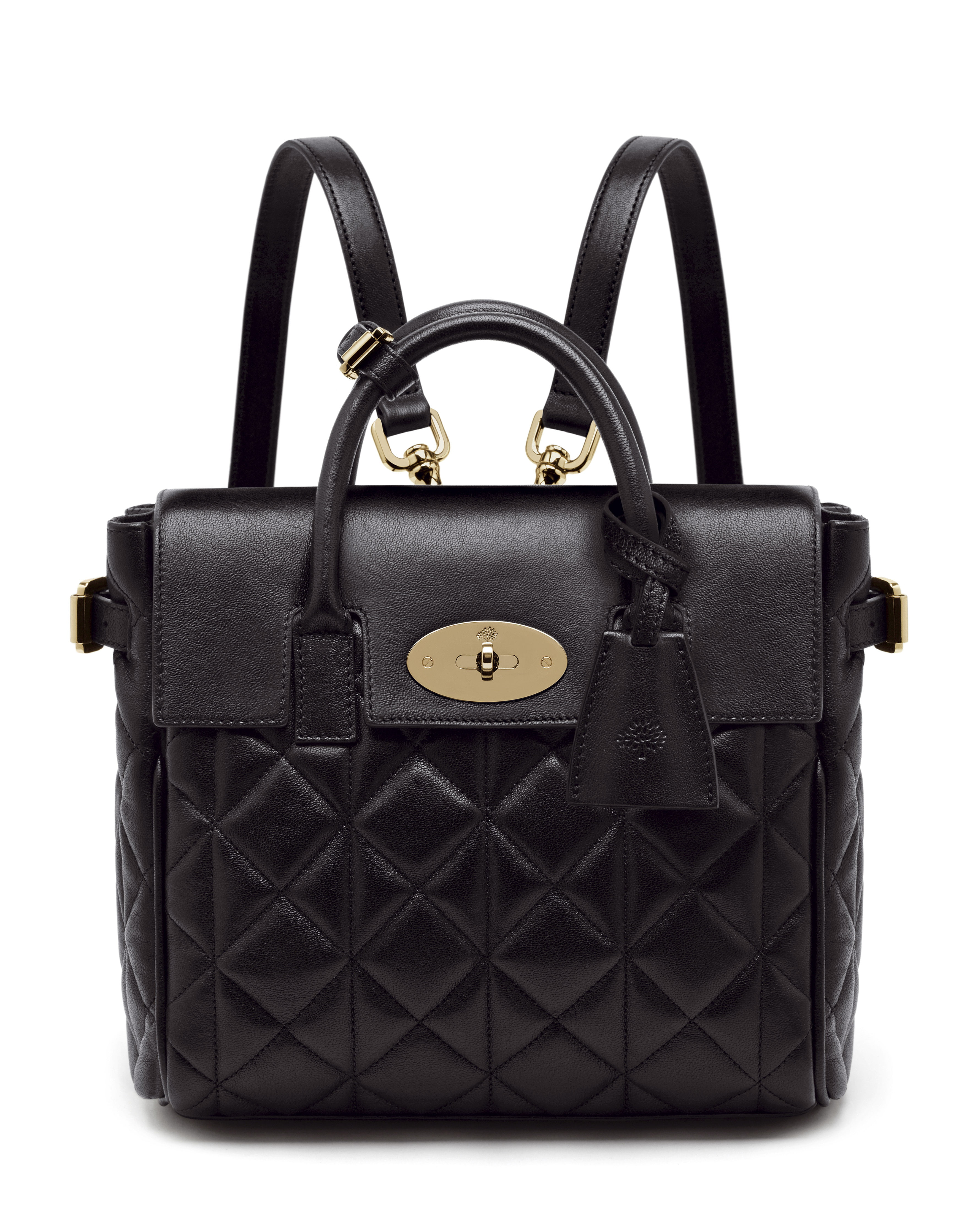 Mini Cara Delevingne Bag in Black Quilted Nappa