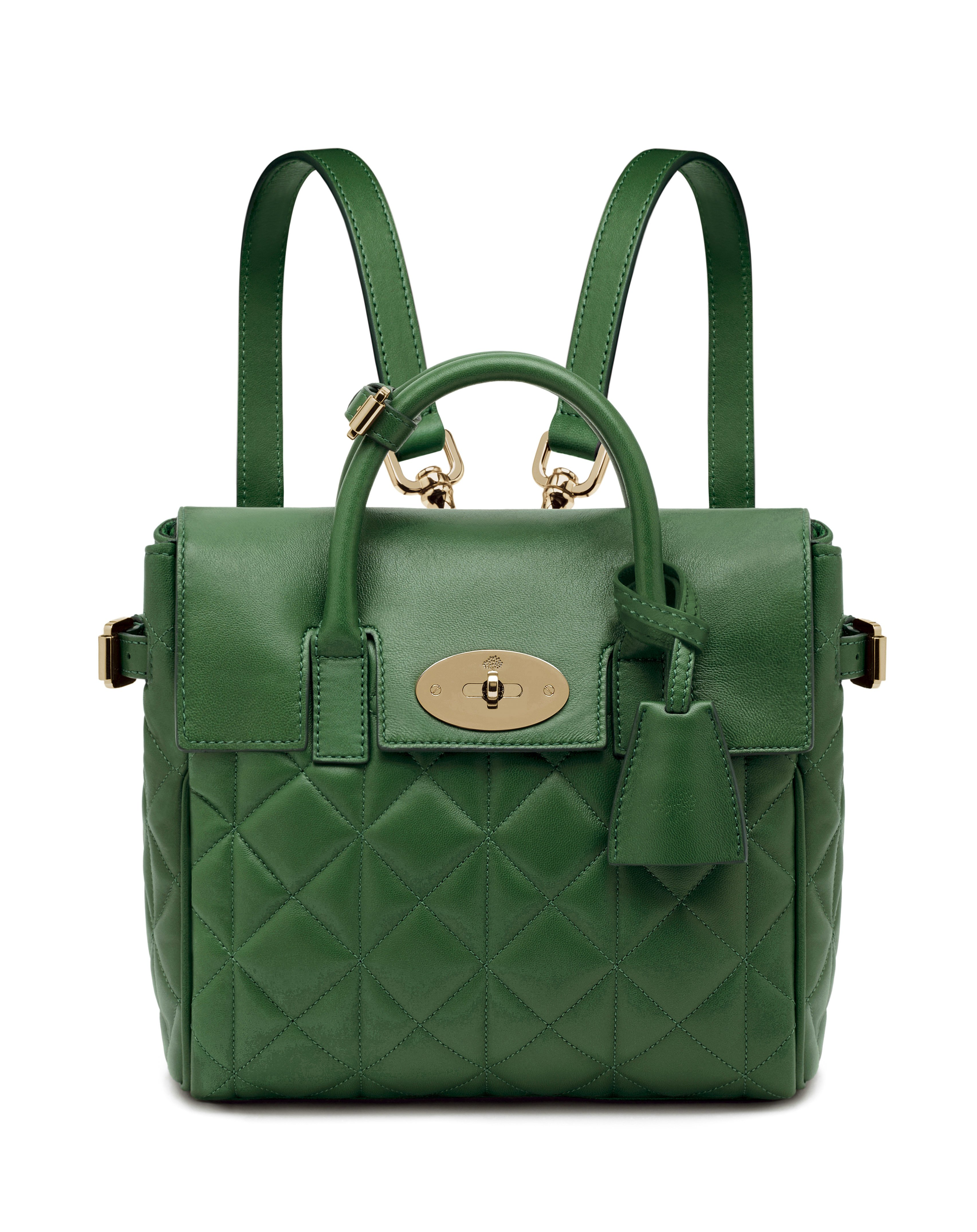 Mini Cara Delevingne Bag in Delevingne Green Quilted Nappa