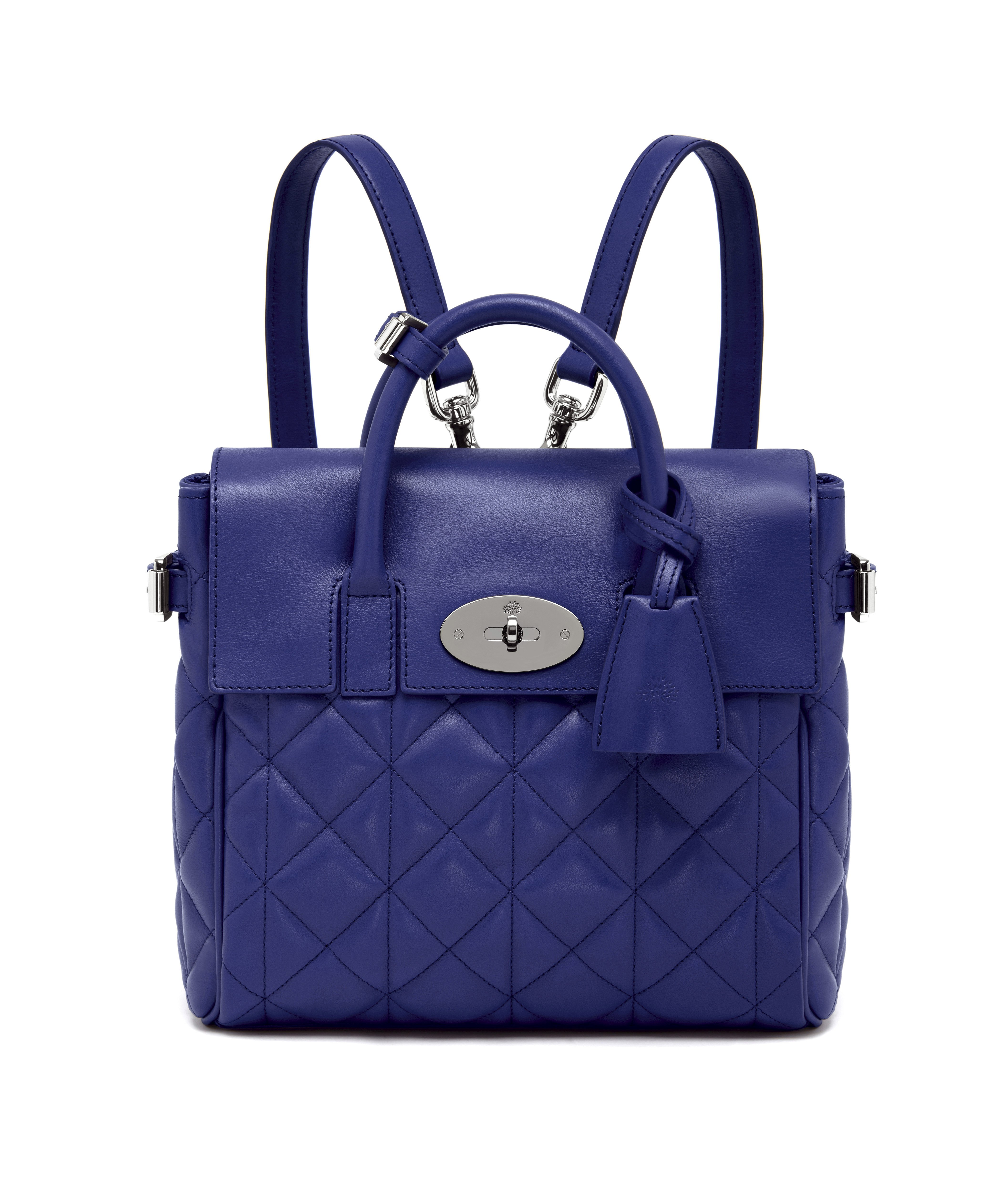 Mini Cara Delevingne Bag in Indigo Quilted Nappa