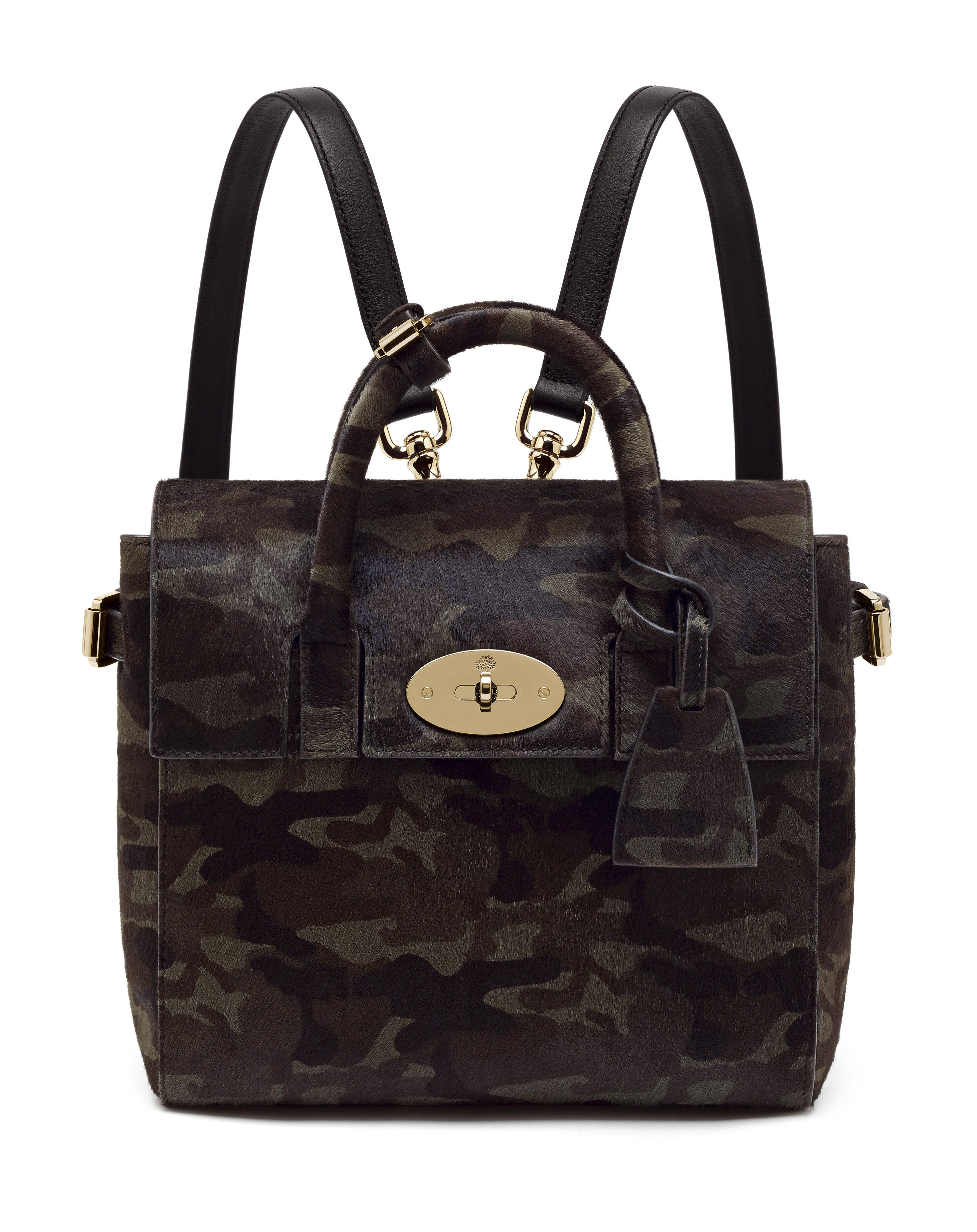Mini Cara Delevingne Bag in Khaki Camo Haircalf