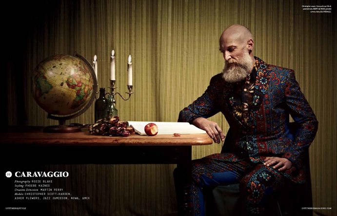 Editorial   'Caravaggio' OutThere/Style S/S 2014 by Rosie Blake