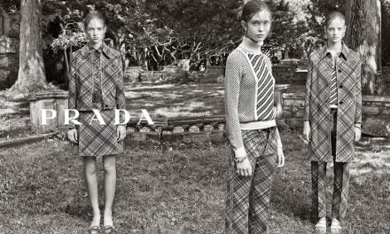 Ad Campaign | Prada Resort 2015 ft. Adrienne Juliger, Ine Neefs and Moya Mardy by Steven Meisel