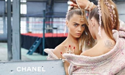 Ad Campaign   Chanel Fall 2014 ft. Cara Delevingne & Binx Walton by Karl Lagerfeld.