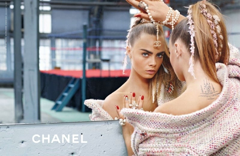 Ad Campaign | Chanel Fall 2014 ft. Cara Delevingne & Binx Walton by Karl Lagerfeld.
