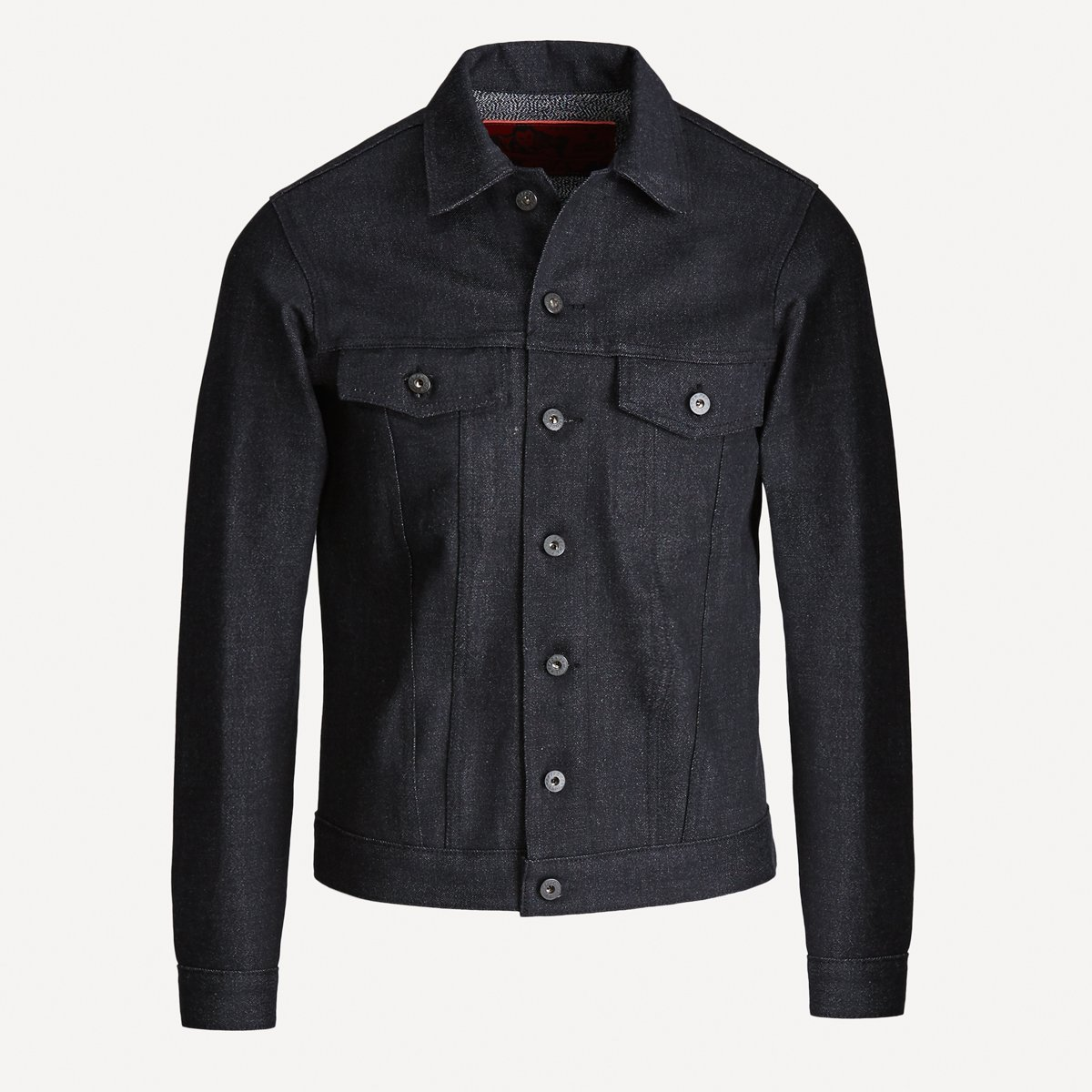 Naked & Famous x Frank & Oak Selvedge Denim Jacket in Black