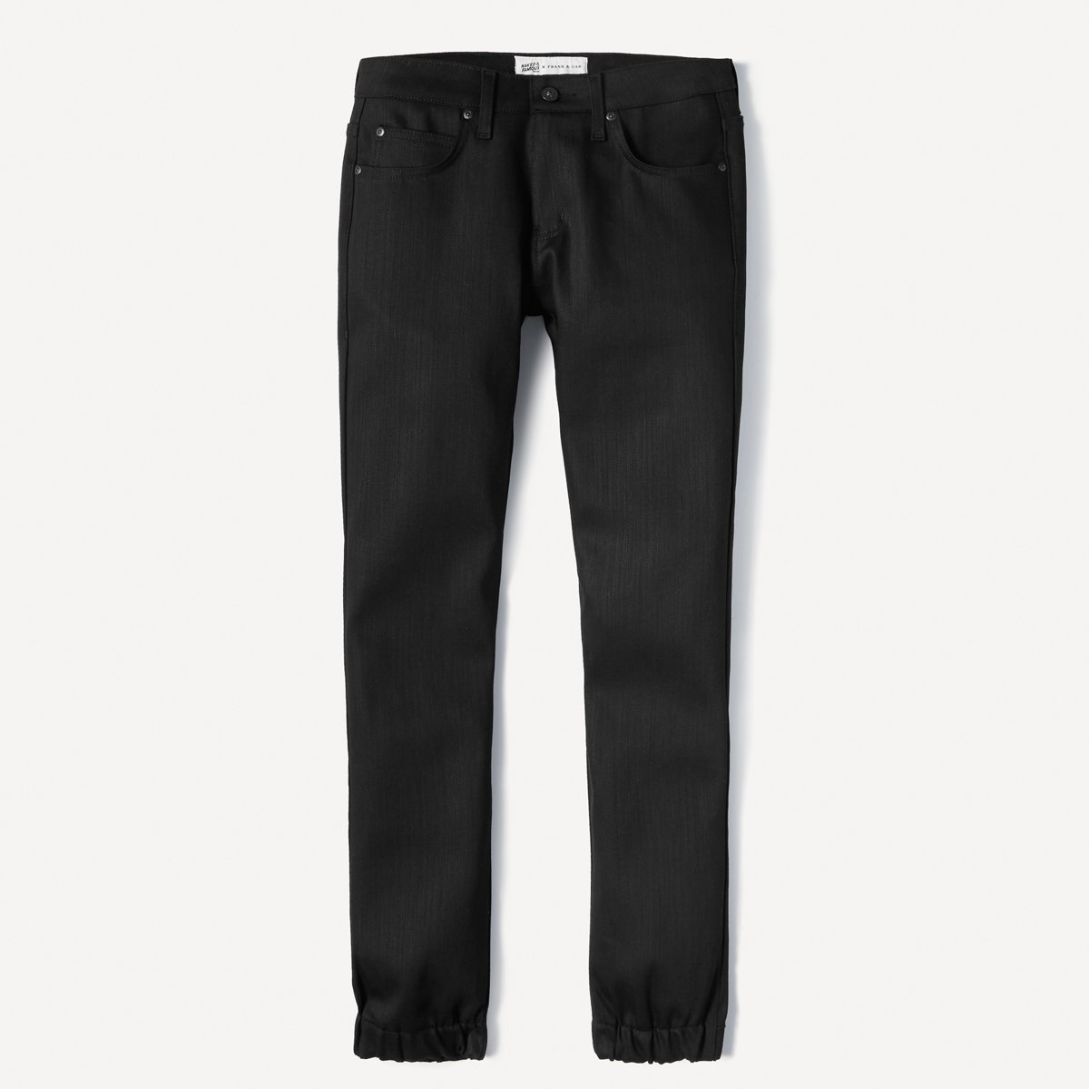 Naked & Famous x Frank & Oak Selvedge Denim Jogger in Black