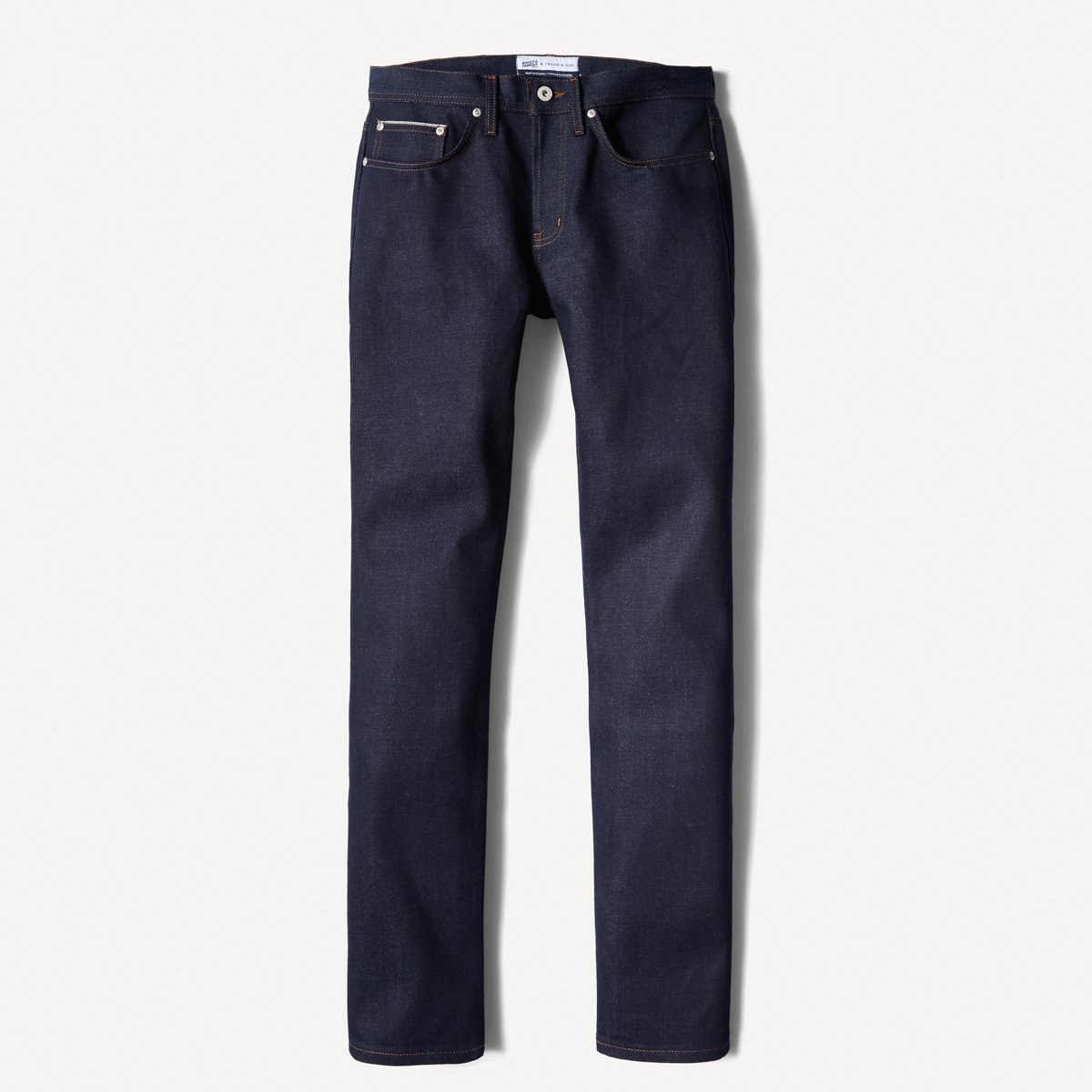 Naked & Famous x Frank & Oak Slim-Straight Selvedge Denim in Indigo