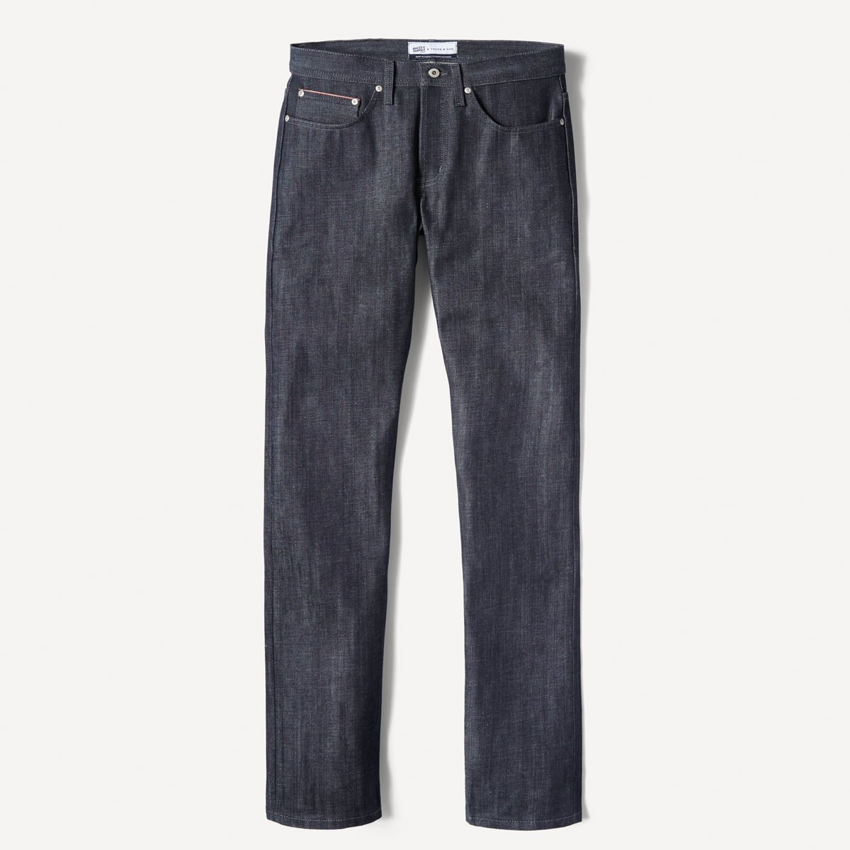 Naked & Famous x Frank & Oak Slim-Straight Selvedge Denim in Redcore Indigo1