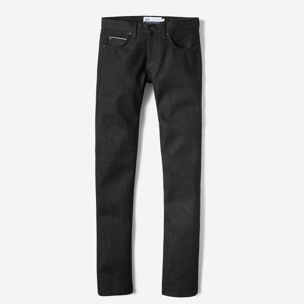 Naked & Famous x Frank & Oak Tapered Selvedge Denim in Black